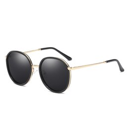 óculos de sol multi cor melhor Desconto Luxo-Novo Best Selling Polarizada Multi Color Sunglasses Tendência Alta Qualidade Confortável Rodada Frame Driving Ladies Sunglasses