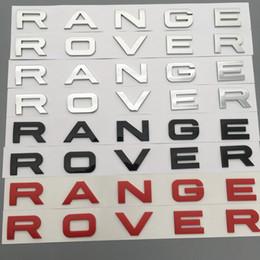 ABS Chrome Car Rear Logo emblema Badge adesivi per Range Rover Car Auto Decalcomanie Accessori per lo styling auto da