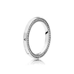 2019 corazones conjuntos de anillos de boda Auténticos anillos de boda de plata esterlina 925 mujeres Set Caja original para Pandora Signature Hearts RING Anillo de joyería de lujo corazones conjuntos de anillos de boda baratos