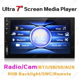 """telecomando originale del dvd Sconti Ultra Slim 7"""" touchscreen capacitivo auto Media Player con Radio / BT / USB / SD / AUX / RGB Retroilluminazione / SWC / Remote # 3582"""