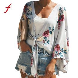 mais roupas modernas Desconto Feitong Das Mulheres Meia Manga Impressão Moda Casaco elegante Blusa floral Tops trendy roupas femininas plus size tunique femme luxo