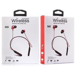 Plus récent! M8 Sports Écouteurs Magnétiques Neckband Bluetooth Casque Stéréo Casque Avec Micro Pour Android iPhone Samsung ? partir de fabricateur