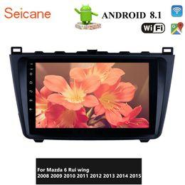 Estéreo de rádio android on-line-9 polegadas HD 1024 * 600 Touchscreen Android 8.1 Car GPS Radio Navigation para 2008 2009 2010 2011-2015 Mazda 6 Rui asa com DAB suporte Wi-Fi +