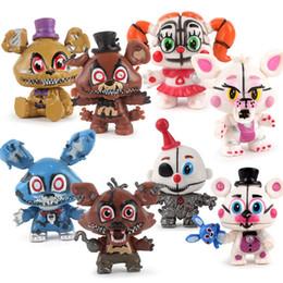 Розничная 8 шт. / компл. пять ночей на Фредди Fnaf Freddys рисунок с освещением ПВХ фигурки игрушки Фокси Фредди Fazbear медведь кукла от