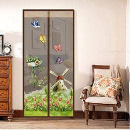 e2ffed13c3acd Moulin à vent modèle rideau été anti-moustiques maille aimant moustiquaire  rideaux doux fil porte tulle fenêtre écran fournitures