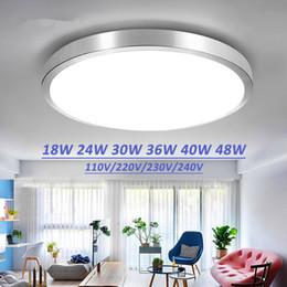 Plafoniere a led a soffitto Lampade da camera da letto moderne Soggiorno Superficie Montaggio balcone 18w 24w 30w 36w 40w 48w AC 110V / 220V Soffitto da