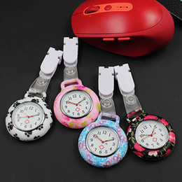 Newly Nurses Doctor Quartz Fob Watch Silicone Case Band Pocket Watch Watches
