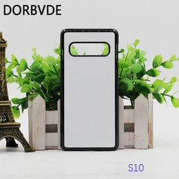 Canada Sublimation 2D plastique dur couverture bricolage couverture arrière pour Samsung S10 S10 Plus Fundas avec inserts en aluminium Coque 100 pcs livraison gratuite Offre