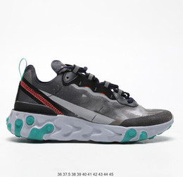 shoe air 87 Coupons - New React Element 87 55 designer Running Shoes Men Women Casual Air Shoes Light Bone 87s Triple Black Bred Team Trainers Sports Sneaker