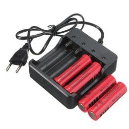 li ион зарядное устройство Скидка Зарядное устройство 4 слота Универсальный аккумуляторная 4.2 В Li-ion EU Plug Инструмент для 18650 (батарейки нет