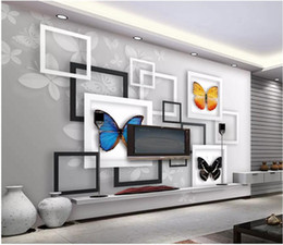 textile butterflies Coupons - WDBH 3d wallpaper custom photo Geometric abstract fantasy butterfly background living room home decor 3d wall murals wallpaper for walls 3 d