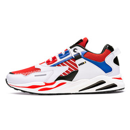 Tipos sapatos de desporto on-line-2020 Hot Brown Tipo Grey Branco Laranja Black Lace almofada macia homens jovens Boy Running Shoes Low Cut Designer Formadores Sports Sneaker
