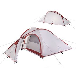 2019 tendas vivas NatureHike 3 Homem Grande Barraca de Acampamento Ao Ar Livre Ultraleve um quarto uma sala de estar Tendas Acampamento MMA2176 tendas vivas barato