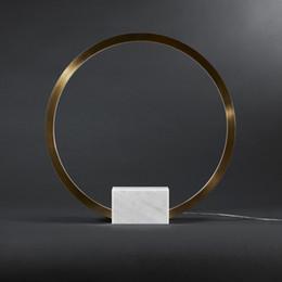 modelle studieren lampen Rabatt Postmoderne Marmor kreative Kreis Wohnzimmer Tischlampe Bett Schlafzimmer Arbeitszimmer Modell Tischlampe 110V 220V