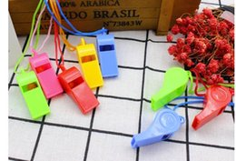 2019 artigos de plástico NEW hot Creative Children's Party Whistle Noise Maker Party Favors Gifts Whistles With Lanyards For Party color random