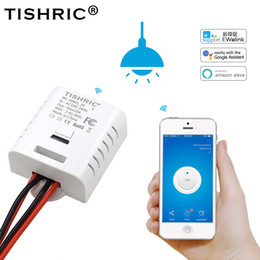 tension de la carte sd Promotion TISHRIC / SONOFF Interrupteur WIFI Basic Light 220V / 10A / 16A Pour module domotique domotique intelligent Télécommande Avec google home Alexa
