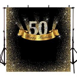 2019 festa de aniversário das decorações do diamante Fundo para o Estúdio de Fotografia de Luxo 50th Aniversário Ouro Diamante Partido Pano de Fundo Sessão de fotos Sobremesa Decoração de Mesa PhotoshootLV