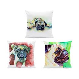 Increíble Pug Dag Hug Pillow Bulldog francés Funda de cojín de dibujos animados Greyhound 45Cm Piel de melocotón Dormitorio decorativo Funda de almohada suave desde fabricantes
