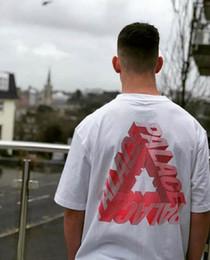2019 bolas vermelhas grandes Marca Mens Designer T-shirt Tendência Da Moda de Luxo PALACES logotipo Tshirt Top Quality Clássico Carta Impressão Dos Homens Camisetas