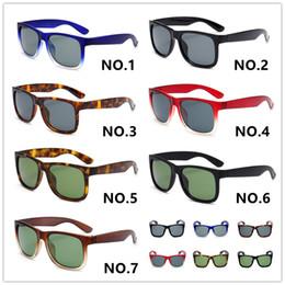 яркие солнцезащитные очки Скидка Роскошные Дизайнерские Солнцезащитные Очки 4165 Унисекс Классические Солнцезащитные Очки 54мм Яркая Черная Рамка Серый Стеклянный Объектив 7 Цветов