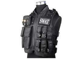 2019 chaleco negro airsoft SWAT Chaleco Táctico Militar Airsoft Paintball CQB Combate de Tiro SWAT MOLLE Chaleco Negro BD2877 # 290009 rebajas chaleco negro airsoft