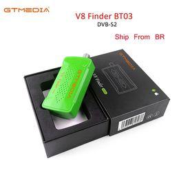 радиоуправляемые радиостанции Скидка GTMEDIA Satellite V8 Finder BT03 для Freesat V7 HD Спутниковый Finder Сигнал радио Подключите телефон через Bluetooth