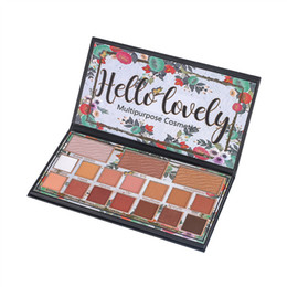 12 paleta de sombra online-Pro Cosmetic Matte Eye Shadow 12 colores Make Up Set Blush Shading Powder paleta de sombra de ojos Pallete