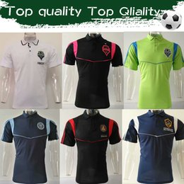 Città verde online-MLS 2019 Major League Soccer Polo New York City Camicie nere Seattle Sounders Green Jerseys Atlanta United POLO Uniformi Vendite