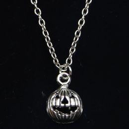 CITROUILLE FILLE Jack O Lantern Dôme Noir Chaîne Collier Pendentif en gros