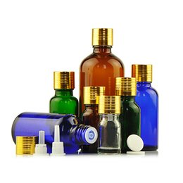 Flacons de parfum en Ligne-Récipient cosmétique Vide Bouteille Rechargeable De Huile Essentielle Fil d'Or Bouchon De Parfum Flacon avec Bouchon Intérieure En Verre Aroma Bottle 30 pcs