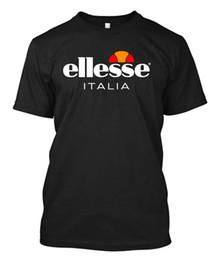 Camisetas personalizadas de los hombres online-Vintage ELLESSE para hombre - Camiseta personalizada para hombre, camiseta negra