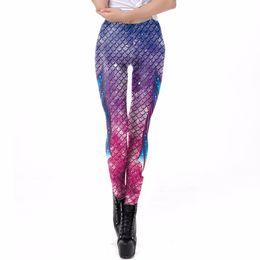 f84fede558aa6 fish scale print leggings Coupons - NORMOV New 3D Fish Scale Printed  Leggings For Women Mermaid