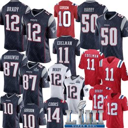 julian edelman jersey Promotion New Englan Patriots Jersey 12 Tom Brady 50 N'Keal Jersey Jersey 87 Rob Gronkowski 11 Julian Edelman Chris Hogan Josh Gordon Maillots