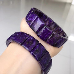 2019 шароитовые бусы Natural Charoite Crystal Diamond  17x6mm Women Man Fashion Bracelet 1 pcs дешево шароитовые бусы