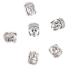 buddha schmuck machen Rabatt Buddha Kopf Kleine Spirituelle Legierung Metall Perlen Silber Vergoldung Spacer Perlen für Armband Halskette zubehör DIY Schmuck Machen