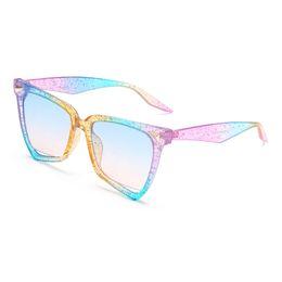 Lunettes montées arc en ciel en Ligne-marque designer 2019 nouvelle mode lunettes de soleil vintage carré arc en ciel cadre lunettes de soleil bonbons couleurs unisexe ombre uv400