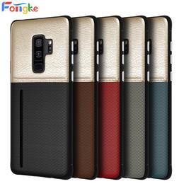 samsung galaxy note fundas para celulares Rebajas Titular de la tarjeta monedero para Samsung Galaxy S10 S9 S8 S8 Plus Note 9 8 Note8 Note9 TPU + PU cajas del teléfono celular de cuero contraportada