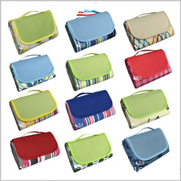 polyester fiber padding Coupons - Oxford Outdoors Picnic Mat Moisture Proof Polyester Fiber Placemat Folding Eco Friendly Stripe Universal Pad Hot Selling 25zh J1