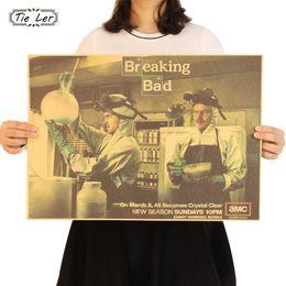 série de tv americana Desconto Poster Recados Bad TIE LER quebra etiqueta Poster Paper Craft Classic American Series TV Retro