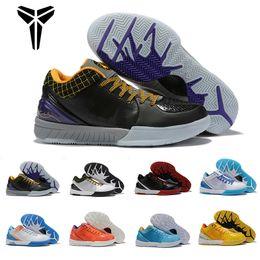 Marque Chaussures de basket Zoom Kobe IV 4 4s Protro le jour du repêchage Hornets Carpe Diem Del Sol Sport Pour Hommes Baskets Sneakers 7 12