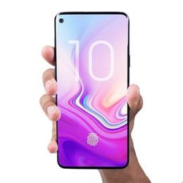 2019 toque desbloqueado gps wifi 6.3 polegada Com Impressão Digital Goophone S10 + 3G WCDMA Núcleo Quad Show 4G LTE Octa Núcleo 128 GB 256 GB Smartphone