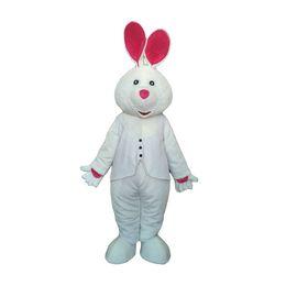 37c6d1b3e622ff Vestito da partito commerciale da pubblicità di festival di carnevale del  costume della mascotte del coniglio adulto bianco con il fan in testa white  rabbit ...