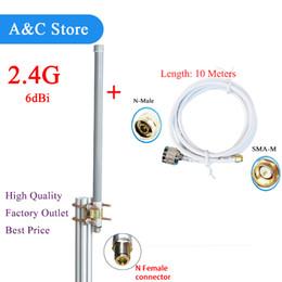 2.4 GHz 6dbi wifi antena de monitor de techo exterior de fibra de vidrio de alta calidad omni base con 10 metros de cable de fábrica personalizada desde fabricantes