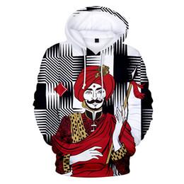 Tarjeta de patrones 3d online-Jugando a las cartas Póquer divertido patrón imprimir sudaderas con capucha 3d pullover moda hombres mujeres con capucha sudadera con capucha casual de manga larga con capucha sudaderas