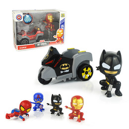 Sportwagen spielzeug online-Avengers Metall Pull-back Fahrzeug Auto-Superheld Cartoon Transformation Spielzeug Sportwagen Modelle Deformation Spielzeug für Kinder Kinder Geschenk Spielzeug