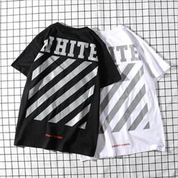 686c325ecaa6d3 2019 Gezeitenmarke Frühling Herren Designer T-Shirts Streifen Verzögerung T- Shirt Frauen Weiß Runde Kragen Hip Hop Top Tees günstig designer kragen t- shirts