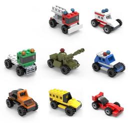 2019 brinquedos de jardim de infância 8 Peças / Set Enlightenment Mini Montado Blocos de Puzzle Vários Veículos Blocos de Construção de Educação Infantil Do Jardim de Infância Caçoa o Presente Brinquedos L208 brinquedos de jardim de infância barato