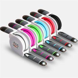 sony mobile audio Rebajas Línea de datos de expansión de teléfono móvil 2In1 de alta calidad Micro / Iluminación USB Línea de carga universal, blanco Envío gratis