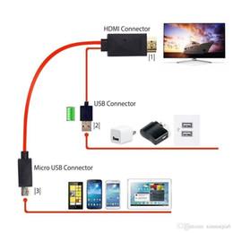 2019 adaptador usb para galaxy s3 Cable adaptador micro USB a HDMI 1080P HDTV para Samsung Galaxy S5 / S4 / S3 NOTE3 2 adaptador usb para galaxy s3 baratos