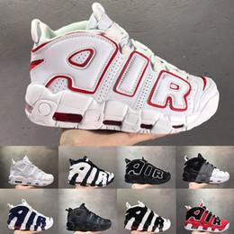 Uptempo 96 QS Chicago Bianco Rosso Donna Uomo Scarpe da pallacanestro Olympic Varsity Marrone rossiccio 3M Scottie Pippen Sports Designers Sneakers